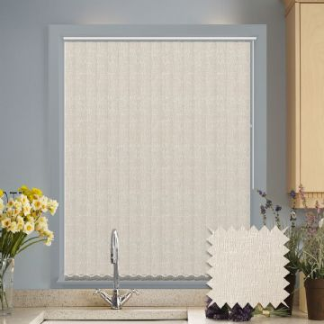 Vertical blinds - Made to Measure vertical blind in Verona Cream